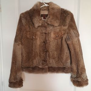 Real rabbit fur coat | women size XXS